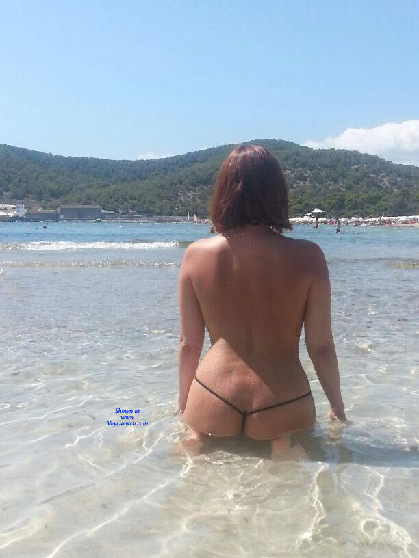 Pic #2 Scarlet In Black String - Topless Girls, Beach, Outdoors, Amateur