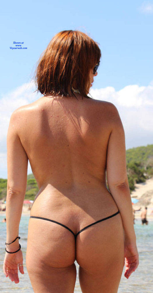Pic #9 Scarlet In Black String - Topless Girls, Beach, Outdoors, Amateur