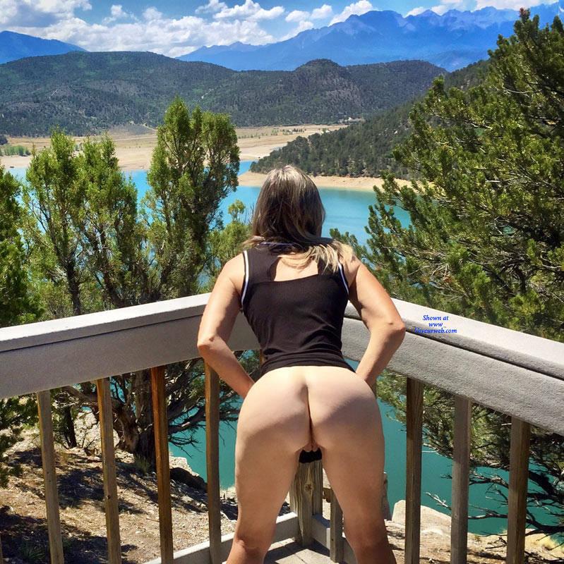 Pic #10 Nirvana Blue Mesa - Public Exhibitionist, Outdoors, Public Place, Shaved, Amateur, Firm Ass