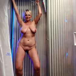 Sun Shower Fun - Nude Amateurs, Big Tits, Blonde, Mature, Shaved