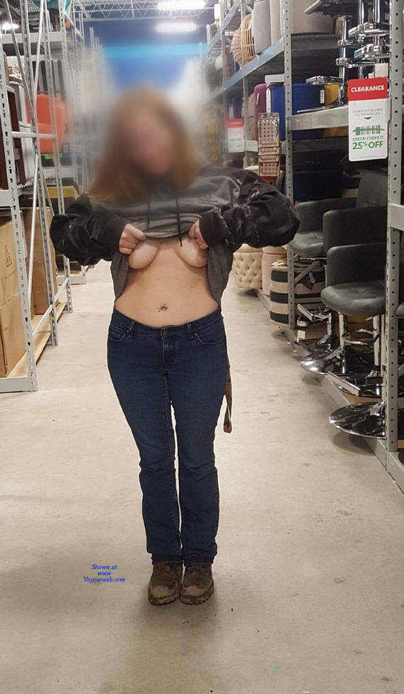 Pic #1 Naughty Tits - Big Tits, Public Exhibitionist, Flashing, Public Place, Amateur