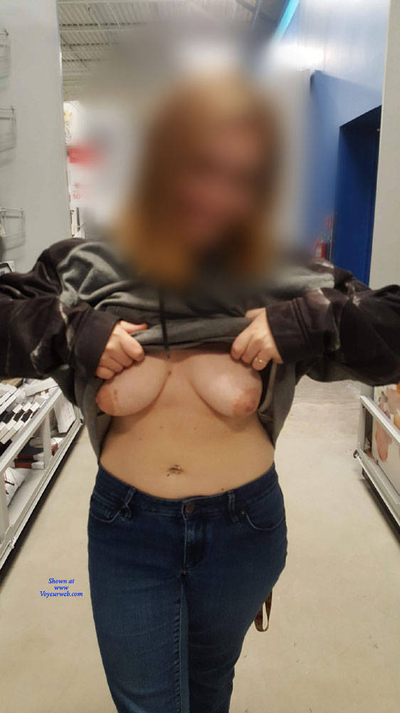 Pic #3 Naughty Tits - Big Tits, Public Exhibitionist, Flashing, Public Place, Amateur
