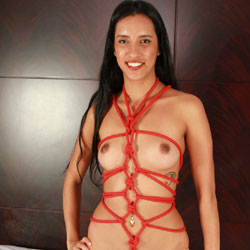 Bondage Fun - Nude Girls, Brunette, Shaved, Amateur, Ebony