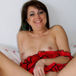 Anna In Red Lingerie - Brunette Hair, Close Up, Pussy Lips, Naked Girl, Toys, Amateur