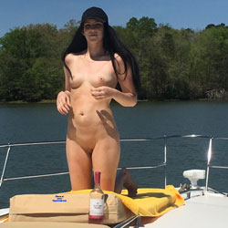 Nude On The Lake - Brunette Hair, Nude Outdoors, Shaved, Naked Girl, Sexy Ass, Amateur