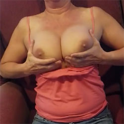 Playing With Her Boobs - Big Tits, Amateur