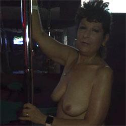 Pole Dance - Nude Girls, Big Tits, Brunette, Public Place, Amateur, Mature