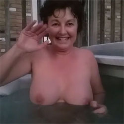 Saying Hello To George - Big Tits, Brunette, Outdoors, Amateur
