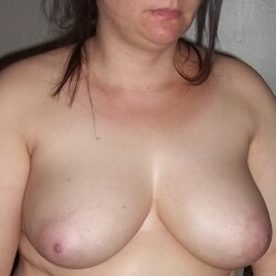 Large tits of my girlfriend - part of her beautiful face