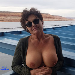 Fun On The Boat May 2019 - Nude Amateurs, Big Tits, Brunette, Mature, Outdoors