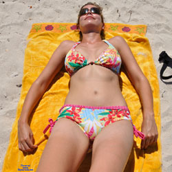 Hot Wife's Natural Body - Beach, Brunette, Outdoors, Wife/wives, Amateur, Mature