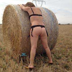 Hay Bales - Lingerie, Outdoors, Amateur