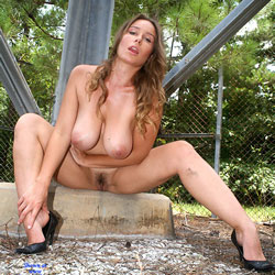 Tower Heels Show - Big Tits, Hairy Bush, Heels, Mature, Nude Outdoors, Naked Girl