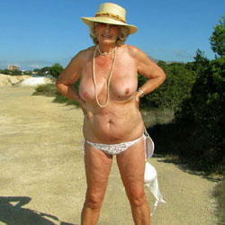 Jo Keeps Her Hat And Shoes On At The Lake - Nude Amateurs, Beach, Big Tits, Mature, Outdoors, Shaved, Girls Stripping