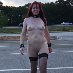 Sexy Tease - Nude Wives, Public Exhibitionist, Flashing, High Heels Amateurs, Lingerie, Outdoors, Public Place, Redhead, Shaved, Stockings Pics