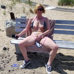 Public Beach Day - Beach, Big Tits, Outdoors, Wife/Wives, Shaved, Amateur