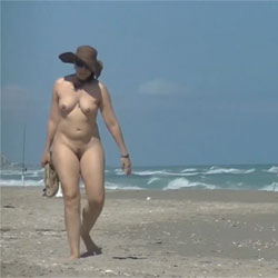 Wife Walks From Nude Beach To Public Beach In Front Of Fishermen! - Nude Wives, Beach, Big Tits, Outdoors, Bush Or Hairy, Amateur