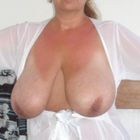 Extremely large tits of my wife - Jill