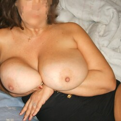 Extremely large tits of a neighbor - Miley