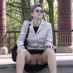 Diana Upskirt Part 1 - Pantieless Girls, Brunette, Outdoors, Shaved, Amateur, Upskirt No Panties