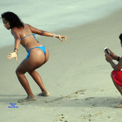 Selma Brasil And Friend - Beach, Brunette, Outdoors, Amateur