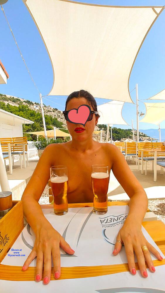 Pic #7 Vacanze In Croazia Parte 4 - Nude Girls, Brunette, Public Exhibitionist, Flashing, Outdoors, Public Place, Amateur