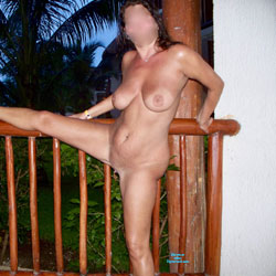 Vacation On Balcony - Nude Wives, Big Tits, Outdoors, Amateur, Shaved