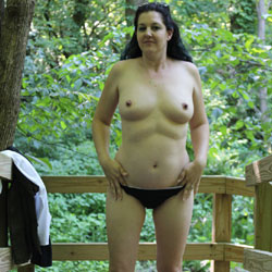 Walk In The Park - Topless Girls, Big Tits, Brunette, Outdoors, Amateur