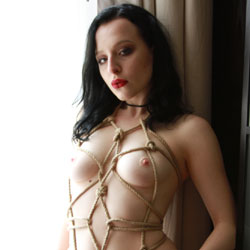 Tied In Rope - Nude Girls, Big Tits, Brunette, Shaved, Amateur
