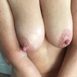 Medium tits of my wife - Joanna