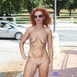 Lena - Fun In The City Park - Nude Girls, Big Tits, Public Exhibitionist, Flashing, High Heels Amateurs, Outdoors, Public Place, Shaved, Firm Ass, Redhead