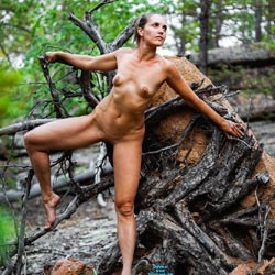 Forest Fairy Sexy Valii - Brunette Hair, Nude In Public, Nude Outdoors, Perfect Tits, Shaved, Naked Girl, Amateur