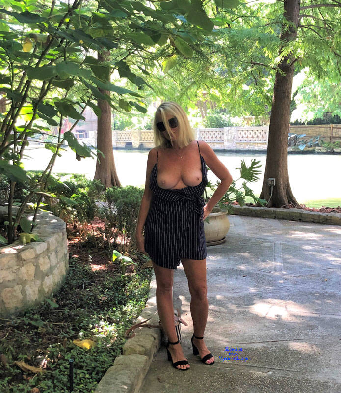 Pic #3 Riverwalk - Big Tits, Blonde, Outdoors, Amateur