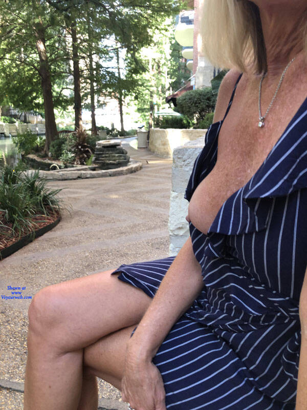 Pic #5 Riverwalk - Big Tits, Blonde, Outdoors, Amateur