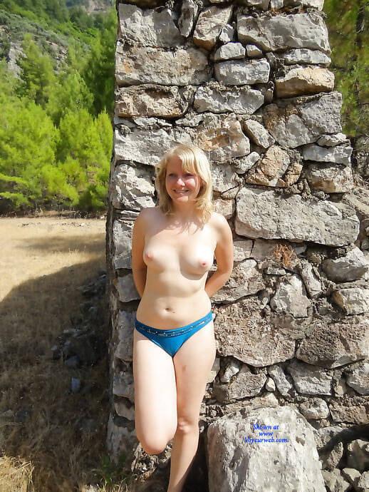 Pic #1 Lena In Bikini - Topless Girls, Blonde, Outdoors, Amateur