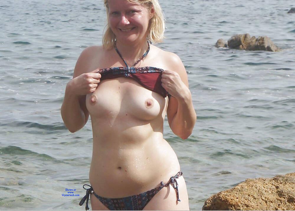 Pic #2 Lena In Bikini - Topless Girls, Blonde, Outdoors, Amateur