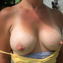 My Braless Tits.... All in Public .. See U There! - Big Tits, Outdoors, Amateur