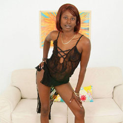 Sheer Luck - Heels, Perfect Tits, See Through, Naked Girl, Ebony, Amateur