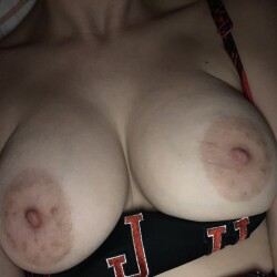 Large tits of my wife - Pink and Glitter