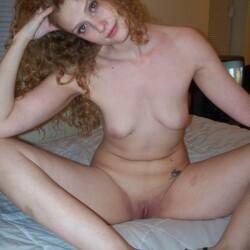 Medium tits of a neighbor - Amy, hot redhead