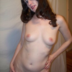 Small tits of a neighbor - Emma, sexy brunette