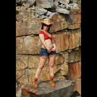 Naughty Nikki Gets Hot In The Quarry
