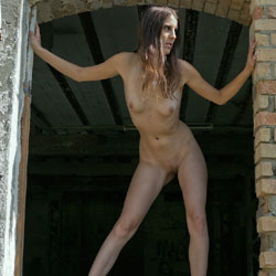Abandoned Factory - Nude Girls, Brunette, Outdoors, Shaved, Amateur, Medium Tits, Round Ass