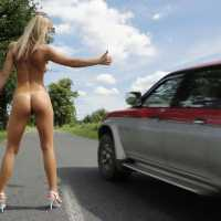Summer Fun - Naked Blonde, High Heels Amateurs, Wife/Wives