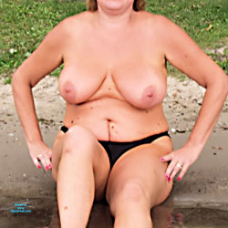 At The Beach - Topless Amateurs, Big Tits, Outdoors