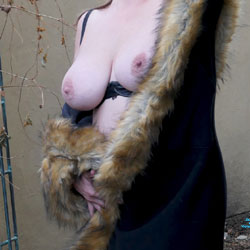 Fur-Lined Flashing - Big Tits, Outdoors, Amateur