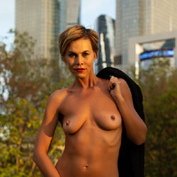 Autumn Walk Near The Moscow City - Big Tits, Outdoors, Amateur