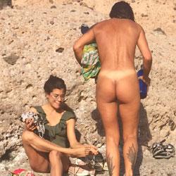2 Friends On Nude Beach - Nude Girls, Beach, Brunette, Outdoors, Beach Voyeur