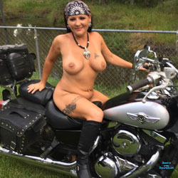 Late Summer Motorcycle - Nude Girls, Big Tits, Brunette, Outdoors, Amateur, Body Piercings, Tattoos