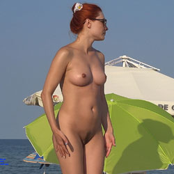 Landing Strip - Nude Girls, Beach, Big Tits, Outdoors, Redhead, Bush Or Hairy, Beach Voyeur, Firm Ass